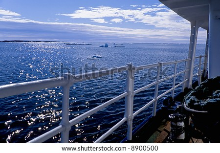 Arctic sea view from a ship