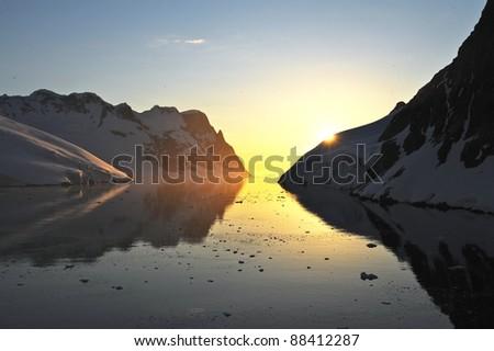 arctic Sun - stock photo