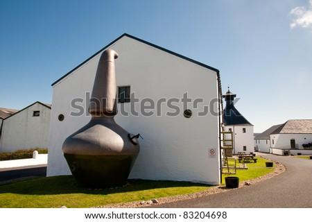Ardbeg distillery - stock photo