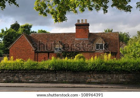 Arden Farm  House in the village of Wilmcote - stock photo