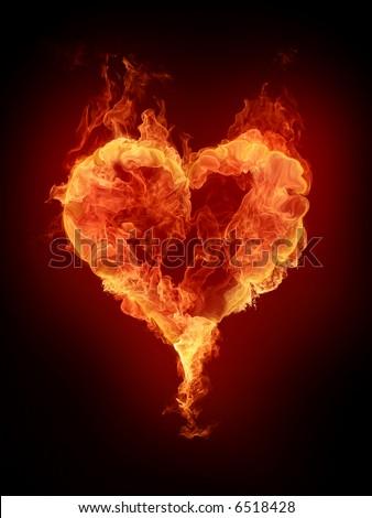 Ardent heart - stock photo