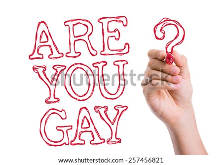 Are You Gay written on wipe board - stock photo