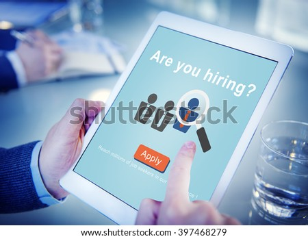 Are you hiring? Job Career Human Resources Concept