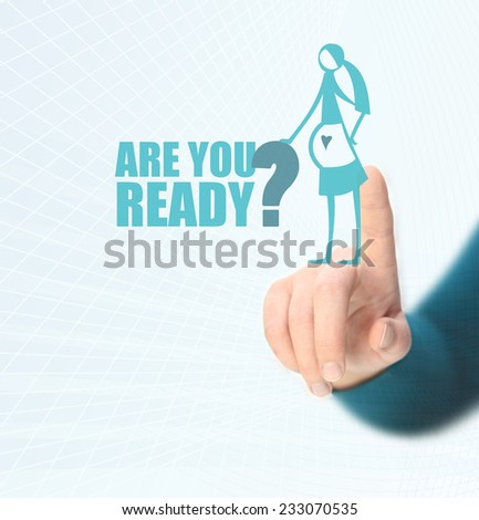 Are You Ready - pregnancy concept - stock photo