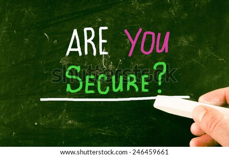 are you secure? - stock photo