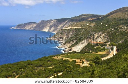 Area of monastery of 'Kipouraion' at Kefalonia island in Greece