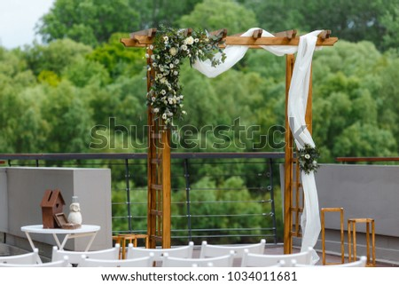 area wedding ceremony near river on stock photo 100 legal