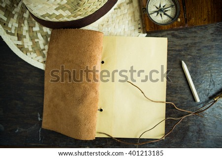 area of travel plan notebook background pattern empty space