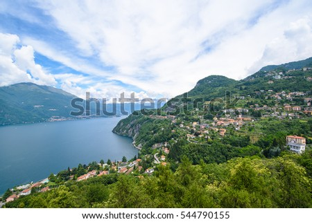 Areal View of Lake Como, Lombardy, Italy