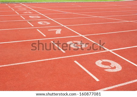 Arena sport running race track