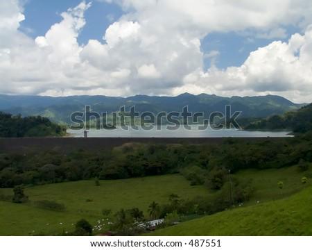 Arenal Dam, Costa Rica - stock photo