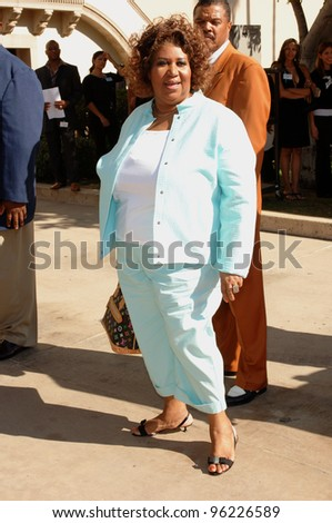 Aretha Franklin at the 10th Annual Lady of Soul Awards at the Pasadena Civic Centre. September 7, 2005; Pasadena, CA:    Paul Smith / Featureflash - stock photo