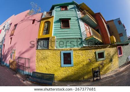 Argentina Buenos Aires street called Caminito - stock photo