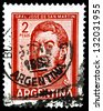 "ARGENTINA - CIRCA 1965: A stamp printed in Argentina shows portrait of Jose de San Martin (national hero), with the same inscription, from the series ""General San Mart�­n"", circa 1965 - stock photo"