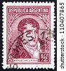 ARGENTINA - CIRCA 1935: a stamp printed in the Argentina shows Manuel Belgrano, Economist, Lawyer, Politician and Military Leader, circa 1935 - stock photo