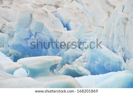 ARGENTINA - FEBRUARY 15: Close up view of the Viedma Glacier in Los Glaciares National Park in Argentina. - stock photo