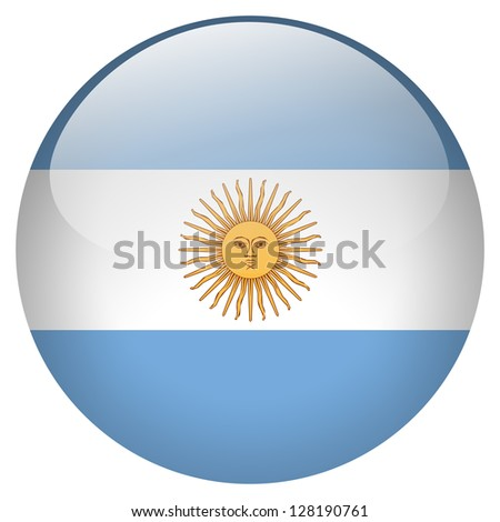 Argentina flag button - stock photo
