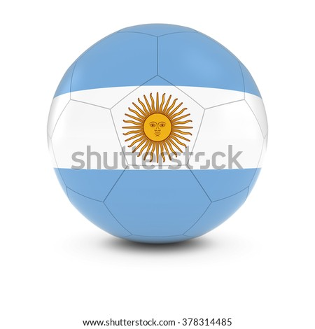 Argentina Football - Argentinan Flag on Soccer Ball