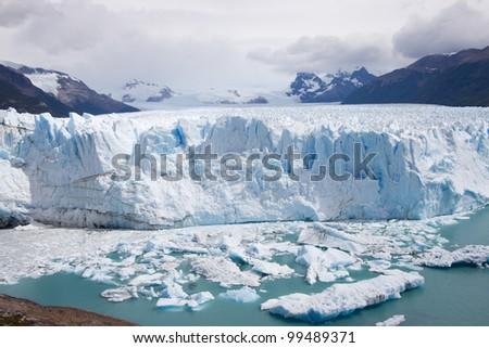 argentina, patagonia/Glacier Peri to Moreno/ - stock photo