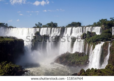 Argentina side of Iguazu Falls in South America - stock photo