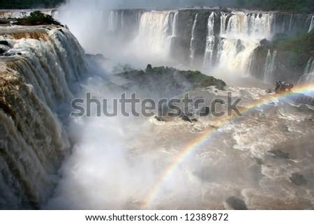 Argentina side of Iguazu Falls in South America. Iguazu falls, Foz do Iguacu, Brazil - stock photo