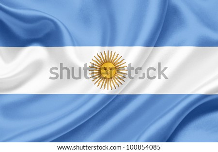 Argentina waving flag - stock photo