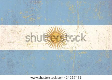 Argentine flag grunge - stock photo