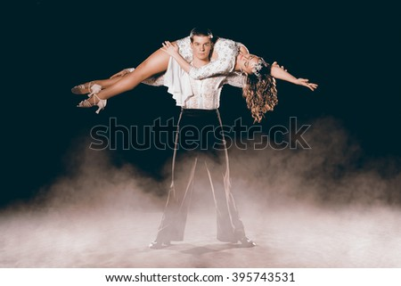Argentinean Couple Dancing Tango - stock photo