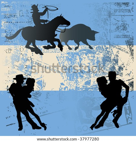 Argentinian Flag Background - stock photo