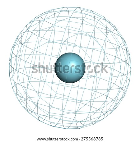 Argon (Ar) atom. Occurs as unreactive noble gas. Used as doping agent to simulate hypoxic conditions.  - stock photo