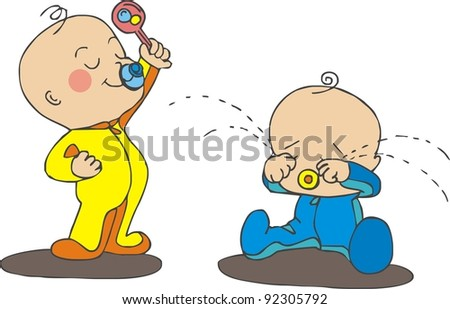 arguing babies - stock photo