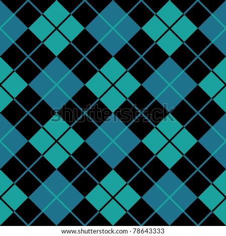 argyle blue seamless background - stock photo