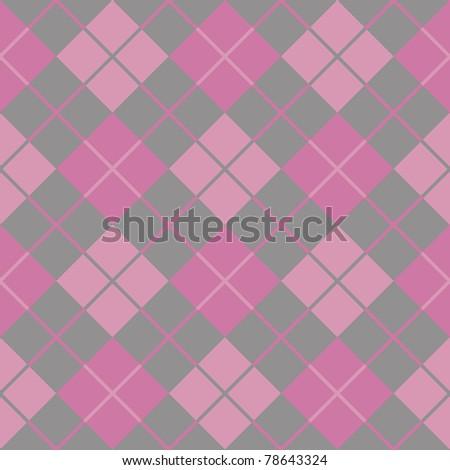 argyle pink seamless background - stock photo