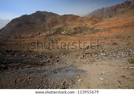 Arid valley in Atlas mountains