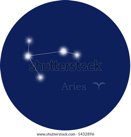 aries zodiac - stock photo
