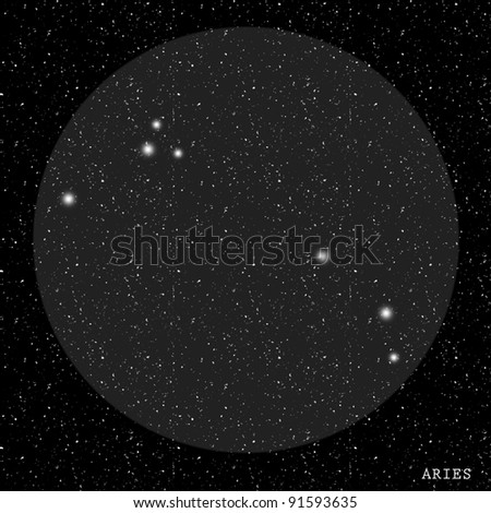 Aries Zodiac Constellation - stock photo