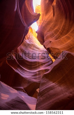 Arizona Antelope Canyon on Navajo land near Page USA
