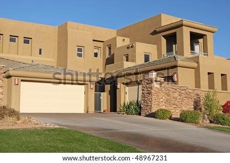 arizona house, architecture - stock photo