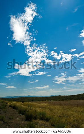 Arizona Spring sky.  Photogrpahed on I-17 during the day. - stock photo