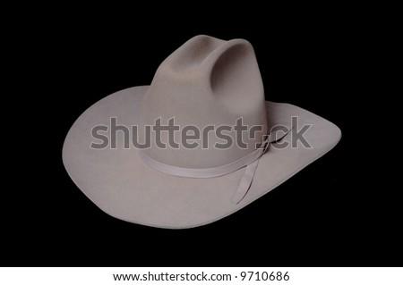 Arizona Style cowboy hat isolated over black - stock photo