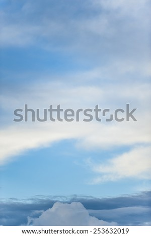 Arizona sunset, a southern winter sky scape. - stock photo