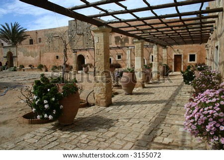 Arkadi Monastery, Retimnon, Crete, Greece - stock photo