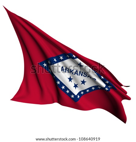 Arkansas flag - USA state flags collection no_2 - stock photo