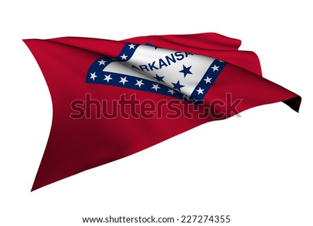 Arkansas flag - USA state flags collection no_4  - stock photo