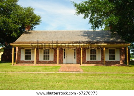 Arkansas Post State Park recreated building