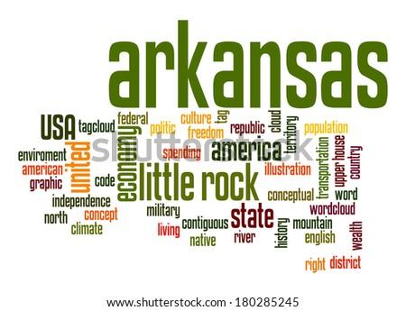 Arkansas word cloud - stock photo