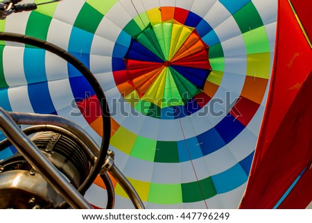 Arkhangelsk, the balloon prepares to take off.Closeup, device,
