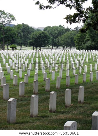 Arlington Cemetery, Washington DC - stock photo