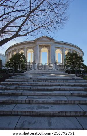 Arlington National Cemetery Amphitheater entrance - stock photo