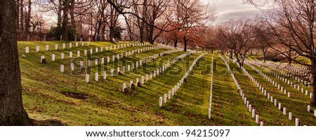 Arlington National Cemetery, Arlington, Virginia, USA - stock photo